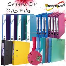 Metal clip file folder plastic Clip file