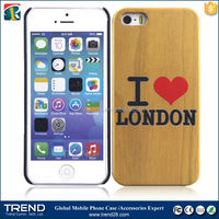 import goods from china color print wood hard case for iphone 5