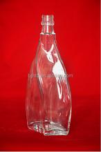 500ml white square glass bottle in glass