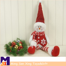 Shenzhen factory wholesale red white snowman decorations for christmas ornament