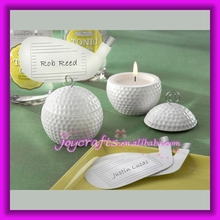 Golf Club Place Cards wiht Golf Ball Tea Light Gift Candle