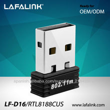 LAFALINK LF-D16 RTL 8188CUS USB Wifi Receptor Adaptador Card Red, Tarjetas de Red, mini adaptador wifi usb