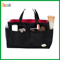 Encai Factory Custom Travel Handbag Organizer/Bag In Bag Insert/Ladies Cosmetic Organiser Bag With Compartment