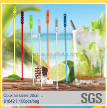Barware plastic swizzle cocktail stick