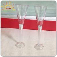 liquid activated led champagne glass, LED goblet for LED goblet, led light drinking glass for wedding decoration