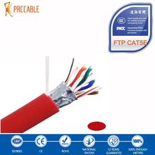high quality adp 4 pairs 0.5mm bare copper conductor double jacket ftp cat5e cable with competitive price