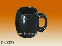 125cc black glazed china coffee mug