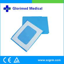 Hospital Disposables Blue Sterile Self Adhesive Reinforced Drape with Square Hole