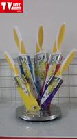 2015Hot Sale Utility Five pcs Colorful Spray Kitchen knife set