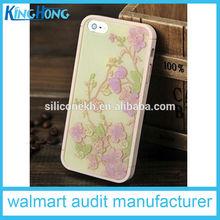 cina alibaba esprimere fiore silicone cassa del telefono mobile per iphone5 donna