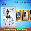 New design Frameless magic mirror light box/ poster frame/ LED mirror light box