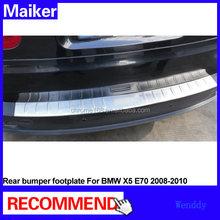 car aluminum foot plate for BMW X5 E70 2008-2010 rear bumper footplate stainless steel from Maiker