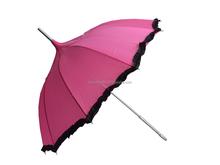 De calidad superior personalizada lindo paraguas del parasol del cordón