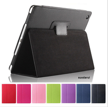 High Quality Stand Luxury Leather Case For iPad mini 4 Matte Inside Protect Cover