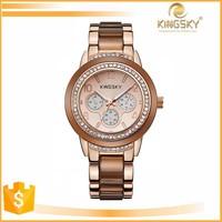 kingsky new arrival japanese movt japan movt quartz watch with quartz movement