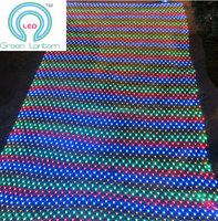 Chrismas and weding party LED net light RGB DC24V Multi-color 4.5M x 1.6M