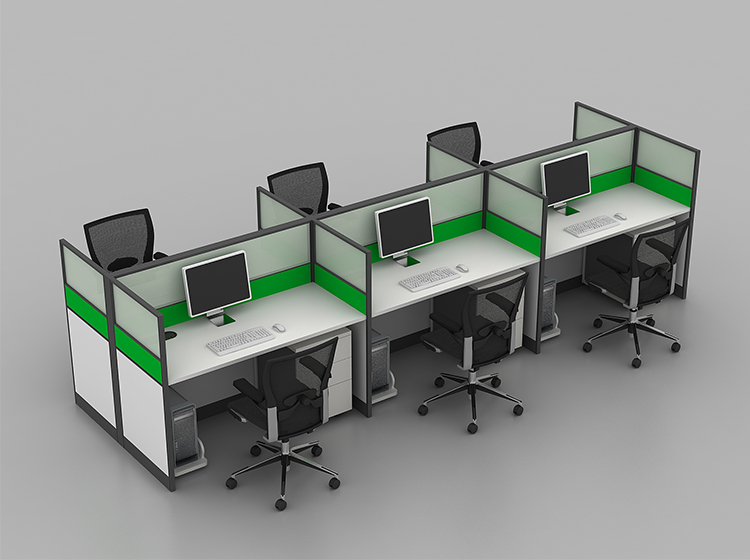 Space Saving Dual Linear Cubicles Modern Partition Office