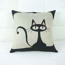 "Cotton Linen Decorative Throw Pillow Case Cushion Cover Cute Animal 18 ""X18 """