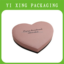 2015 rigid paper coated paper heart pattern gift boxes heart shaped chocolate packaging box