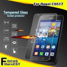 Cheap price good quanlity mobile phone 9H 2.5D 0.33mm tempered glass screen protector for Huawei C8817