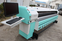 Hot selling 3.2m flex banner printing machine price with 4 konica 512/42pl print head