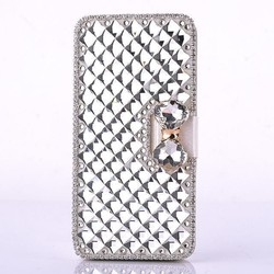 New Products Luxury Bling Bling Diamond DIY PU Leather Flip Wallet Case for iPhone 6