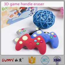 Cute 3D game handle rubber removable assembly