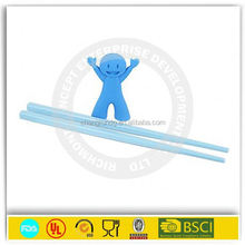 Environmental protection non-toxic animal shaped silicone children practicing chopsticks