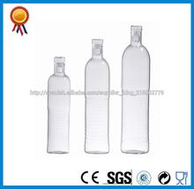 vidrio botella de agua con tapa transparente