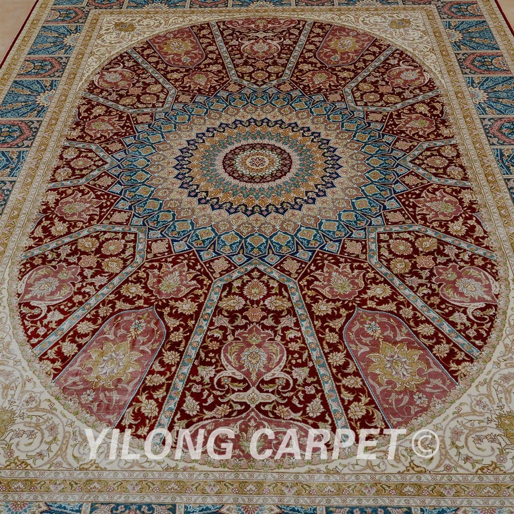 Yilong 5 5 39 x 8 39 dise o popular anudada mano alfombra de for Alfombras persas historia