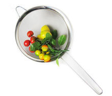 Food Grade Stainless Steel Strainer Colander With Handle Bar