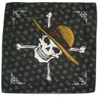 cheap square cowboy country flag cotton solid custom made logo men bandana