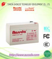 Tianjin shengjie Aussda sealed lead acid storage battery for car use