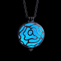 Fashion Unisex Necklace Pendant Luminous Glow In The Dark Locket Jewelry