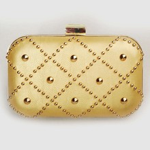 fashion cross body bag GZ pu metal chain woman clutch bag