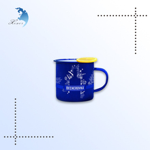 Promotional glass coffee drinking cup mug with handle