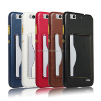 New PU Leather Card Holder Hard Case with stand For ZTE Blade S6 Lux Q7