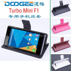 New Arrival Doogee F1 Left and Right Flip Leather case for Doogee turbo mini F1 phone cover black white red brown color in stock