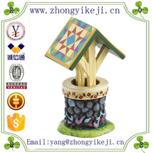2015 chinese factory custom made handmade carved hot new products resin well decoration garden