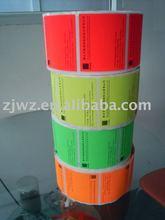 fluorescenza etichetta adesiva