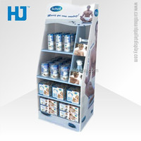 Creative design cardboard furniture floor stand display, recyclable carton retail pallet exhibition display for fitness product