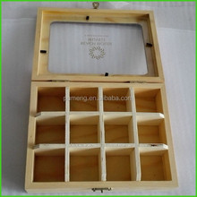 Wooden Storage Box with Twelve Compartments