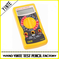 ABS material Digital multimeter made in china with make-and -break function test and CE Certification