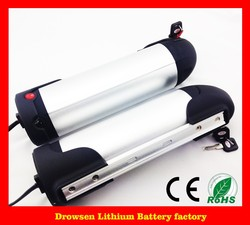 Kettle shell electric bicycle lithium battery 36V9ah with power display