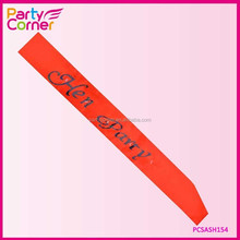 Red And Black Hen Party Flashing Sash