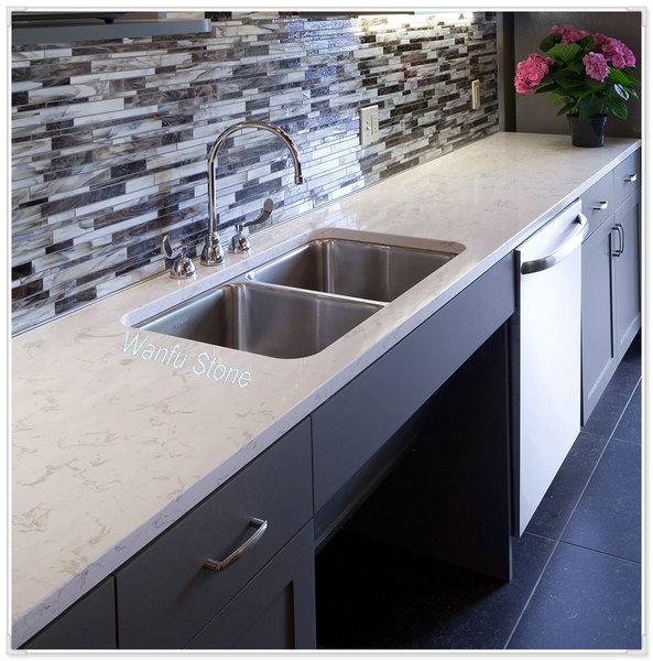 Fast delivery chinese quartz countertops sparkle quartz stone
