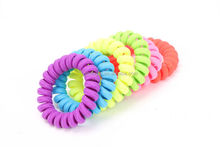 fashion fabric telephone wire hair band/Durable Colorful Elastic Extendable Girls Rubber Telephone Wire Hair Ties