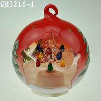 wholesale christmas decorative open glass ball