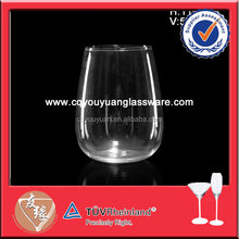 Stemless round bottom bohemia crystal glassware