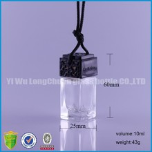 unique carton shaped Christmas gift with perfume bottle pendant.car air freshener bottle for sale